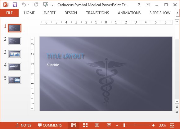 Caduceus medical powerpoint template toneelgroepblik Gallery