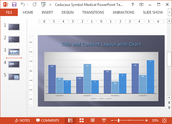Chart layout in medical template
