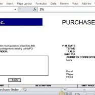 Clean and Professional Purchase Order Form
