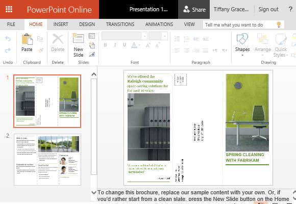 powerpoint handout template - how to create printable business promotion brochures in