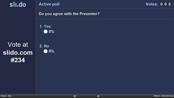 Conduct Prezi poll