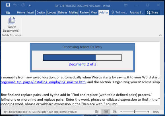Converting Word Documents in Batch