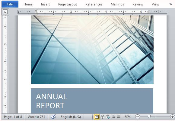 Annual Report Template With Cover Photo – Free Annual Report Templates