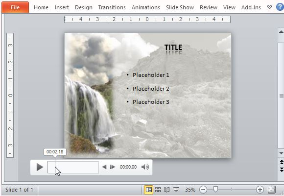 Animated waterfall powerpoint template create a captivating and powerful slide in minutes toneelgroepblik Choice Image