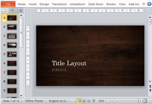 Woodgrain design template for powerpoint create an elegant presentation using woodgrain design the woodgrain design template for powerpoint toneelgroepblik Choice Image