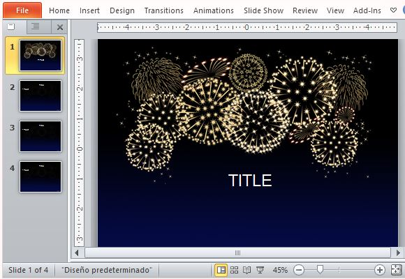 Best celebration templates for powerpoint create an explosion with this fireworks template toneelgroepblik Images