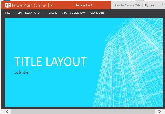 building wireframe design for powerpoint online