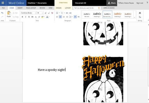 Easily Customizable Template for Halloween Greetings