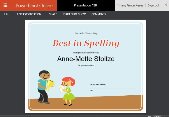 How to create printable award certificates in powerpoint easily editable and printable certificate template toneelgroepblik Image collections
