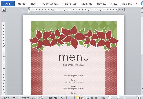 How To Create Printable Menus in Microsoft Word