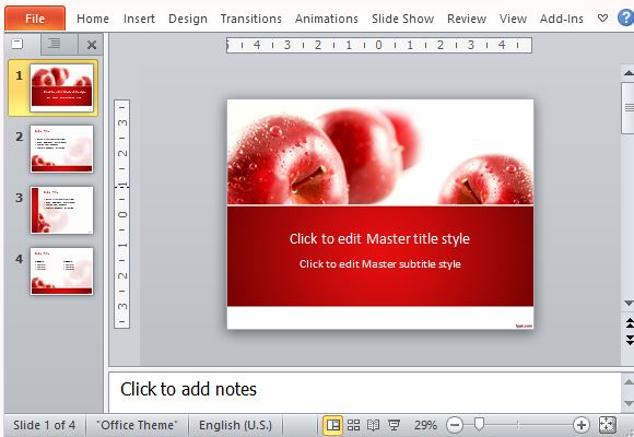 Entice Your Audience with this Beautiful and Succulent Red Apples Template