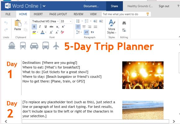 Free Office Templates  Microsoft Daily Planner