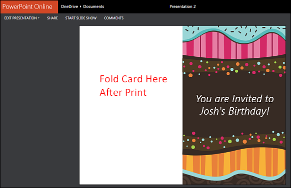 Printable Children's Birthday Card Maker Template for PowerPoint: freeofficetemplates.com/article/printable-childrens-birthday-card...