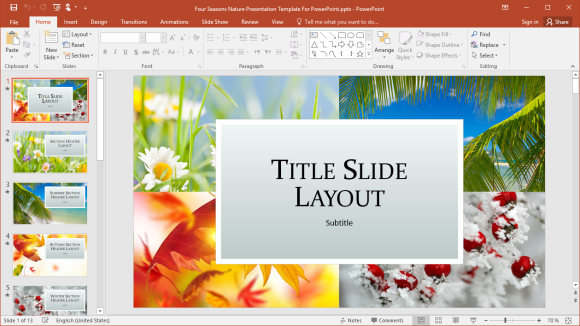 Four Seasons PowerPoint Template