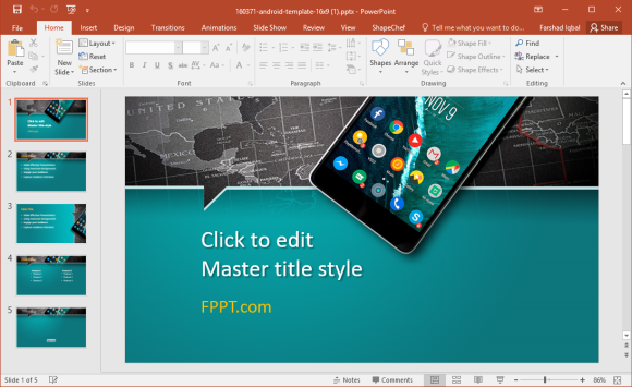 Free Android PowerPoint Template