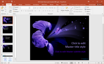 Free Dark Flower PowerPoint Template