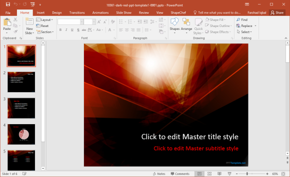 powerful abstract powerpoint templates