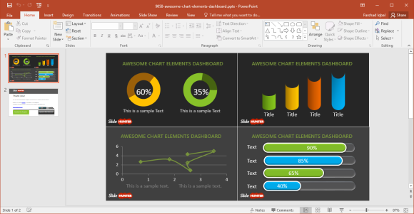 Free Dashboard PowerPoint Template