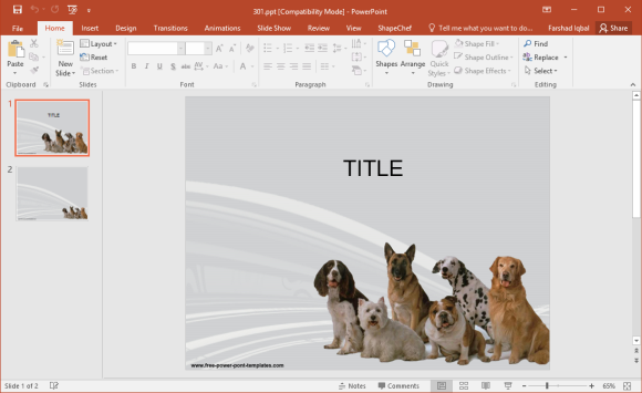Free Dog Breeds PowerPoint Template