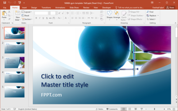 Free gym powerpoint templates free fitness gym powerpoint template toneelgroepblik Images