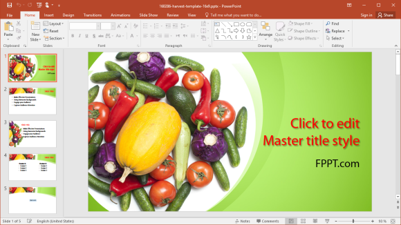 Free Harvest PowerPoint Template