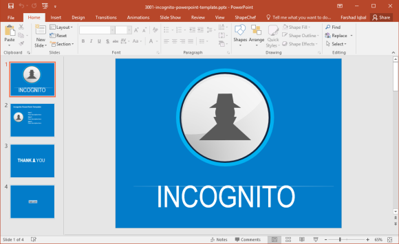 Free Incognito Mode PowerPoint Template