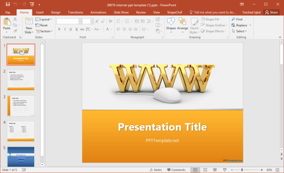 Internet Powerpoint Template