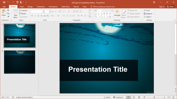 Free Moonlight PowerPoint Template