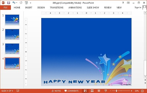 New year powerpoint template zesloka happy new year powerpoint ppt backgrounds templates toneelgroepblik Images