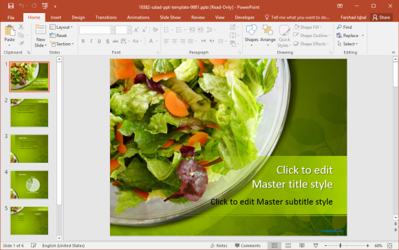 Free Salad PowerPoint Template