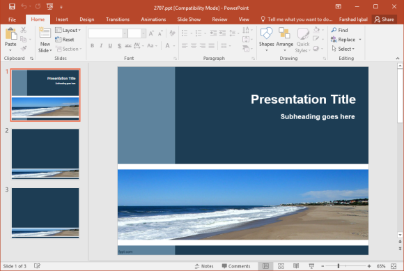 Free Seaside PowerPoint Template