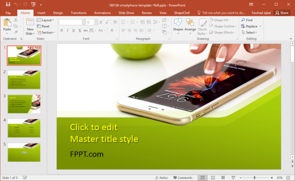 Free Smartphone PowerPoint Template