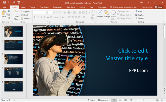 Free VR PowerPoint Template