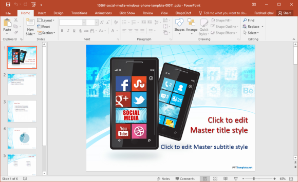 Free Windows Phone PowerPoint Template