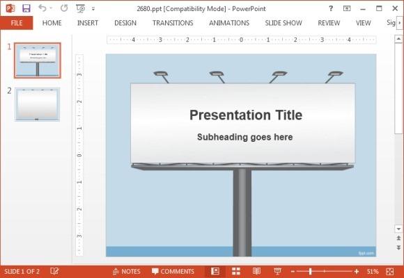 Free billboard Powerpoint template