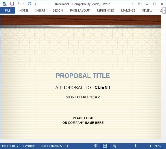 Free Office Templates  Proposal Template Microsoft Word