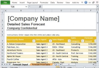Download free office templates for presentations free for Project forecasting template