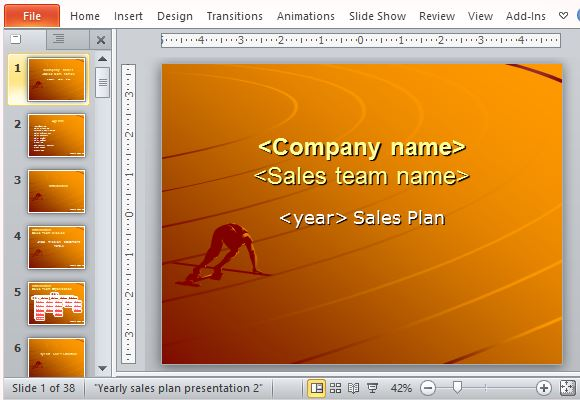 Free Sales Plan Templates For Powerpoint
