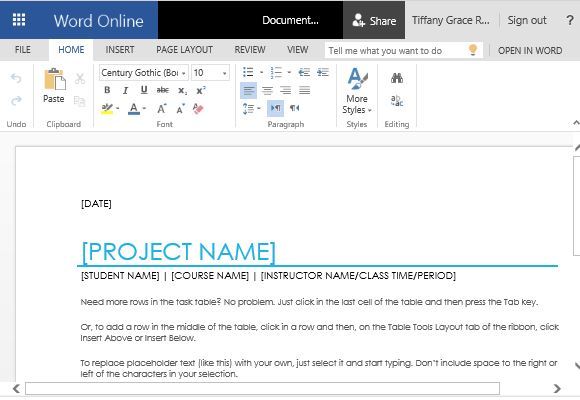 Free Office Templates  Project Task List Template Word