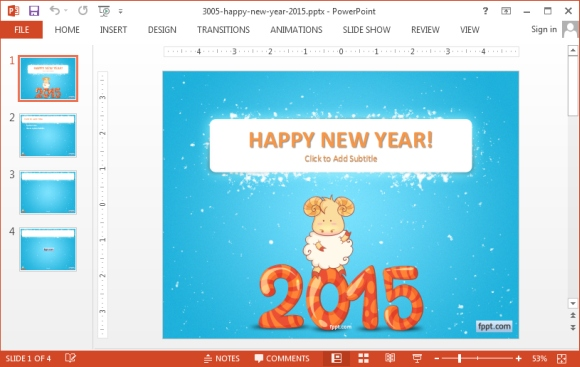 Happy New Year 2015 PowerPoint template