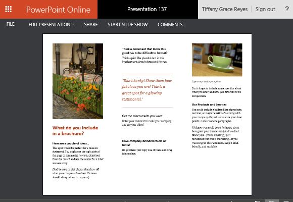 powerpoint handout template - business brochure powerpoint templates