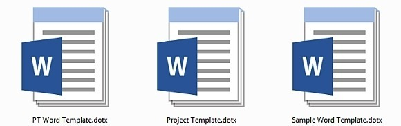 How to create MS Word template
