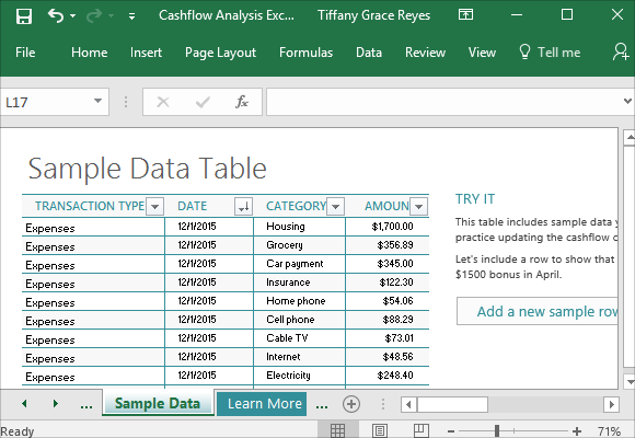 Just-add-sample-data-and-click-update-from-the-cashflow-tab