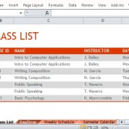 List Your Classes for a Particular Semester and Plan Ahead