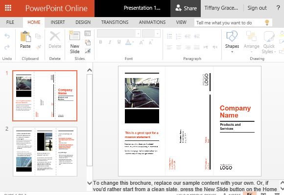 powerpoint brochure - gse.bookbinder.co, Modern powerpoint