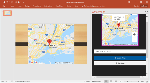 OfficeMaps for PowerPoint