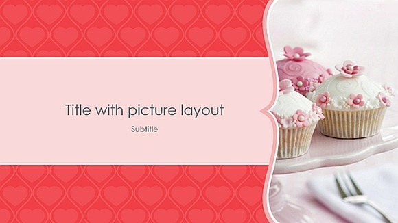 Pink hearts photo album template
