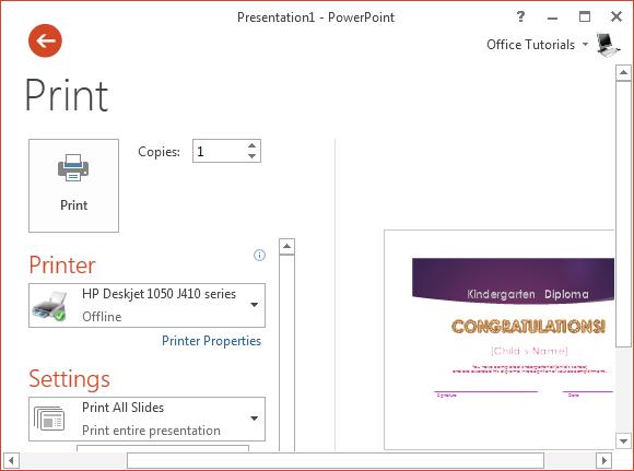 printable kindergarten diploma template for powerpoint