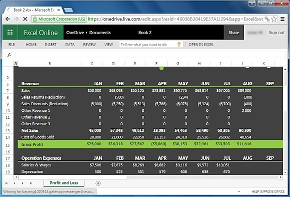 Profit And Loss Template For Excel  Annual Financial Report Template