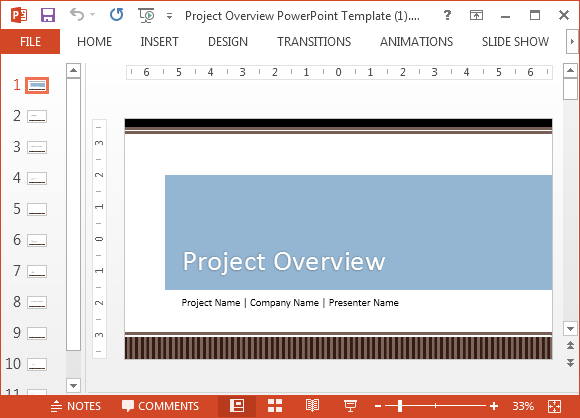 Project Proposal Template for PowerPoint – Powerpoint Proposal Template